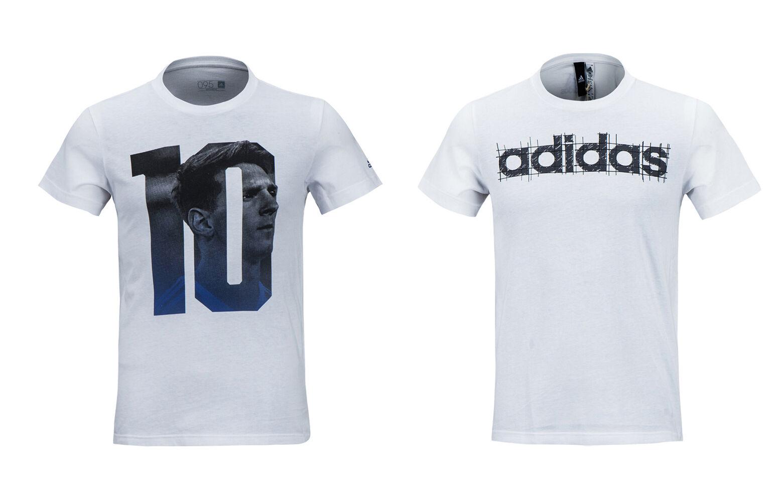 Adidas Messi Linear S S Top BK2782 BP7268 Soccer Football Training Casual Tee