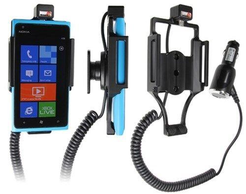 Vehículos BRODIT soporte 512380 con zigarettenanzünderanschluß para Nokia Lumia 900
