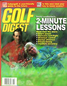 """1995--GOLF DIGEST--""""DAVID LEADBETTER'--LOT OF 2--XLNT"""