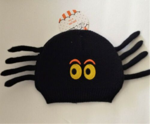So /'Dorable INFANT KNIT SPIDER Cap HAT 0-6mo NEW Baby HALLOWEEN 0-6 mo NWT