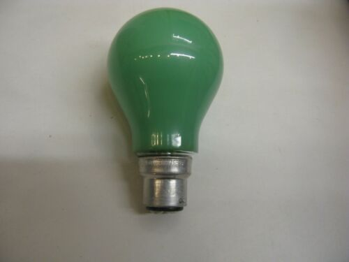 10 x Crompton GREEN 60W Coloured B22 Bayonet Cap Light Bulb Lamp 240V Job Lot UK