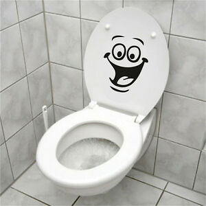 Details About Face Wc Toilet Decal Walls Mural Art Decor Funny Bathrooms Sticker Vinyl Vn
