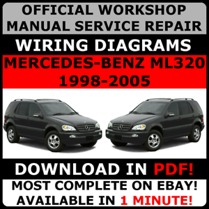 Image Is Loading OFFICIAL WORKSHOP SERVICE Repair MANUAL MERCEDES BENZ  ML320