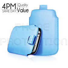 LEATHER PULL TAB SKIN CASE COVER POUCH FITS VARIOUS HTC PHONES