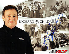 Richard CHILDRESS SIGNED Team Card AFTAL Autograph COA NASCAR Driver