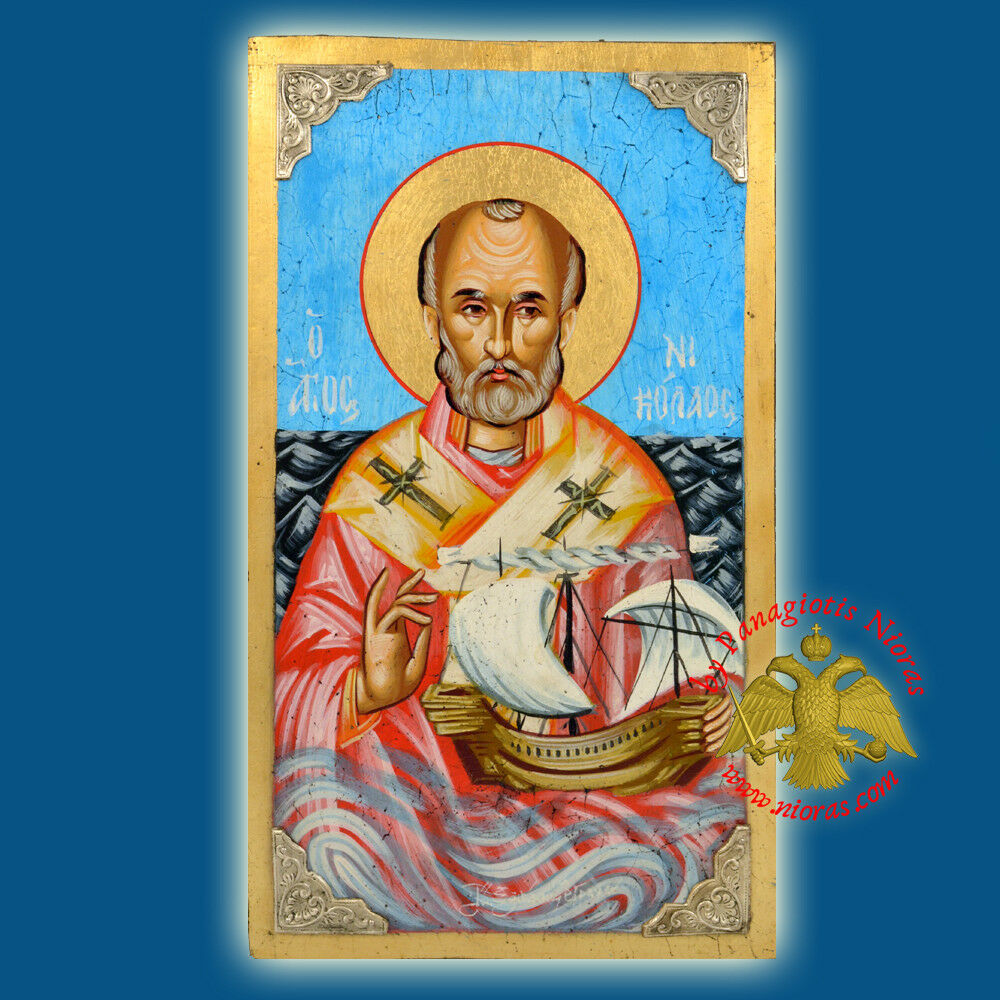 Orthodox Icons Hand Painted St. Nicholas Collection Orthodoxe Ikone Nikolaus
