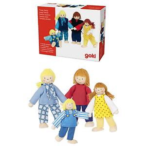 GOKI Jeune famille Lot de 4 flexibles en bois chiffres pour maison de poupées