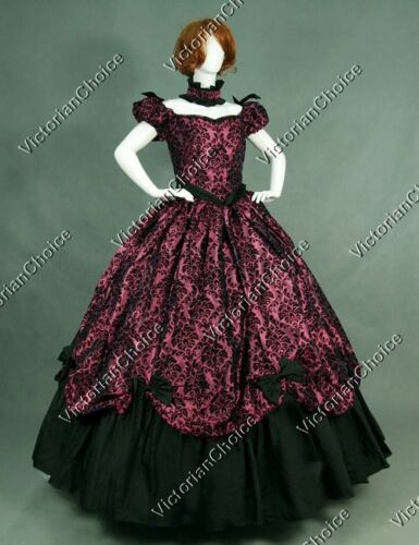 Victorian Dresses | Victorian Ballgowns | Victorian Clothing    Southern Belle Scarlett OHara Period Gown Fancy Dress Halloween Costume N 323 $147.00 AT vintagedancer.com