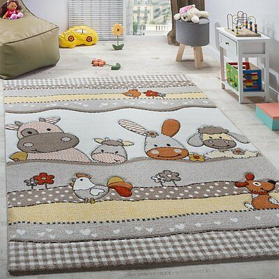 Kids Animals Rug Farm Design Childrens Bedroom Carpet Baby Nursery Playroom  Mats | eBay