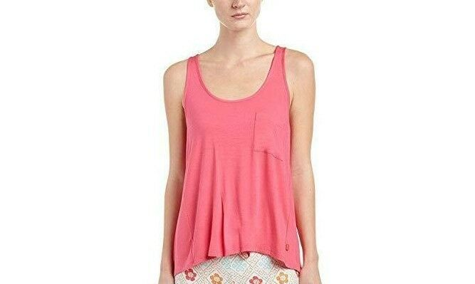 Josie Natori Women's Pink Pajama Tank Top Medium NWT