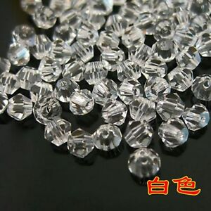 100-PIECES-Austrian-Crystal-Glass-Bicone-Jewellery-Making-Tiaras-4mm-BEADS-clear