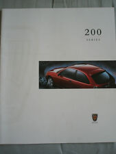 Rover 200 Series range brochure 1997 Prestige