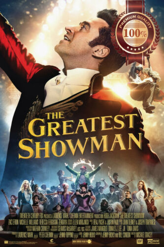 THE GREATEST SHOWMAN OFFICIAL ORIGINAL CINEMA MOVIE PRINT PREMIUM POSTER