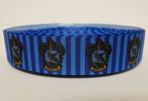 "Grosgrain Ribbon 1/"" By the yard NEW Ravenclaw Hogwarts House Harry Potter"