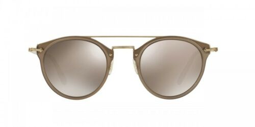 New Oliver Peoples OV 5349 S 14736G REMICK Taupe// Gold Mirror Sunglasses