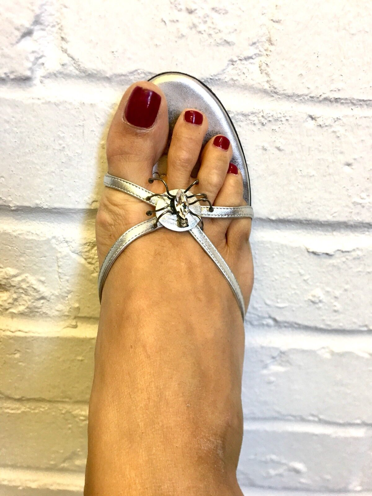 Stunning Matthew Silver Stiletto Spider Sandales Matthew Stunning Williamson Größe 39 1c699e