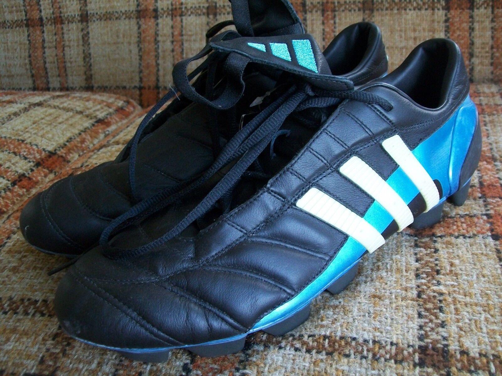 Adidas Mens Size 12 (FR 46 2 3) Black bluee Soccer Cleats 042264 -- NWT