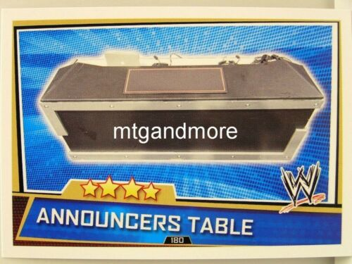 Slam Attax Superstars #180 Announcers Table