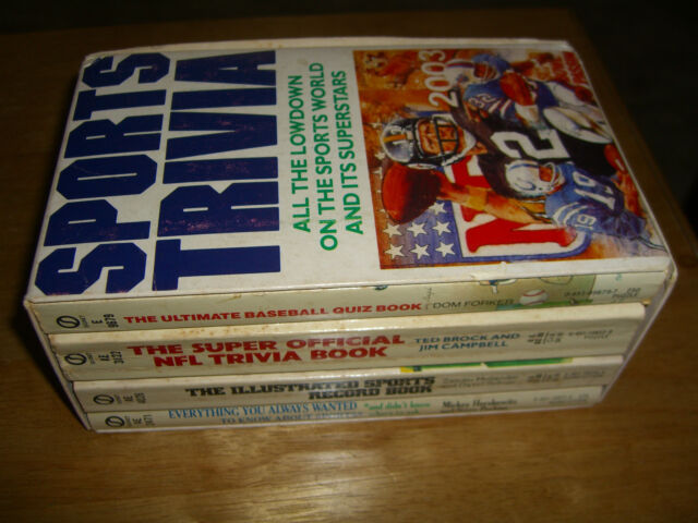 Sports Trivia 4 Books Boxed All the Lowdown on the Sports World & Its Superstars