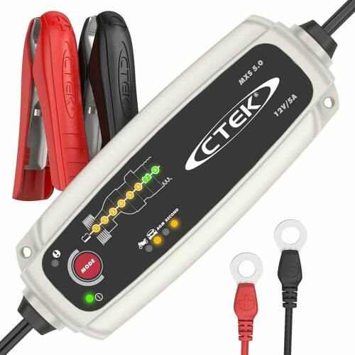 CTEK MXS 5.0 Fully Automatic Battery Charger Maintains Car Motorcycle Batteries