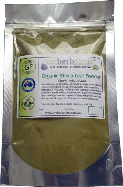 100g ORGANIC STEVIA LEAF POWDER NATURAL SWEETENER NO FILLERS - Stevia Rebaudiana