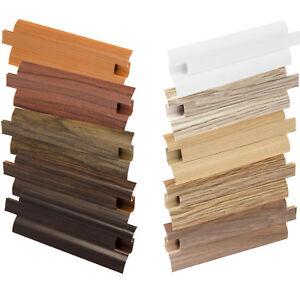 Sockelleisten PVC Fussleisten Bodenleisten Fußleisten Weiß + Montagematerial
