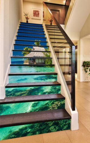 show original title Details about  /3d Marine Pavilion 25 stair risers Decoration Photo Wallpaper Vinyl Sticker Wallpaper DE