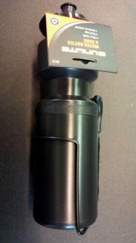Sunlite 25 0unce Waterbottle with Black Steel Cage-Black Bottle