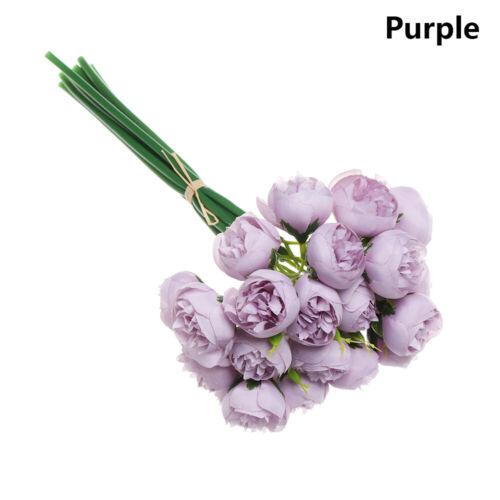 Artificial Silk 27 Heads Tea Rose Flower Bouquet Wedding Home Hotel Table Decors