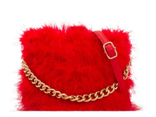 Ladies Fx Fur Box Clutch Bag Fox Fur Compact Party Bag Fur Handbag Purse KT2092