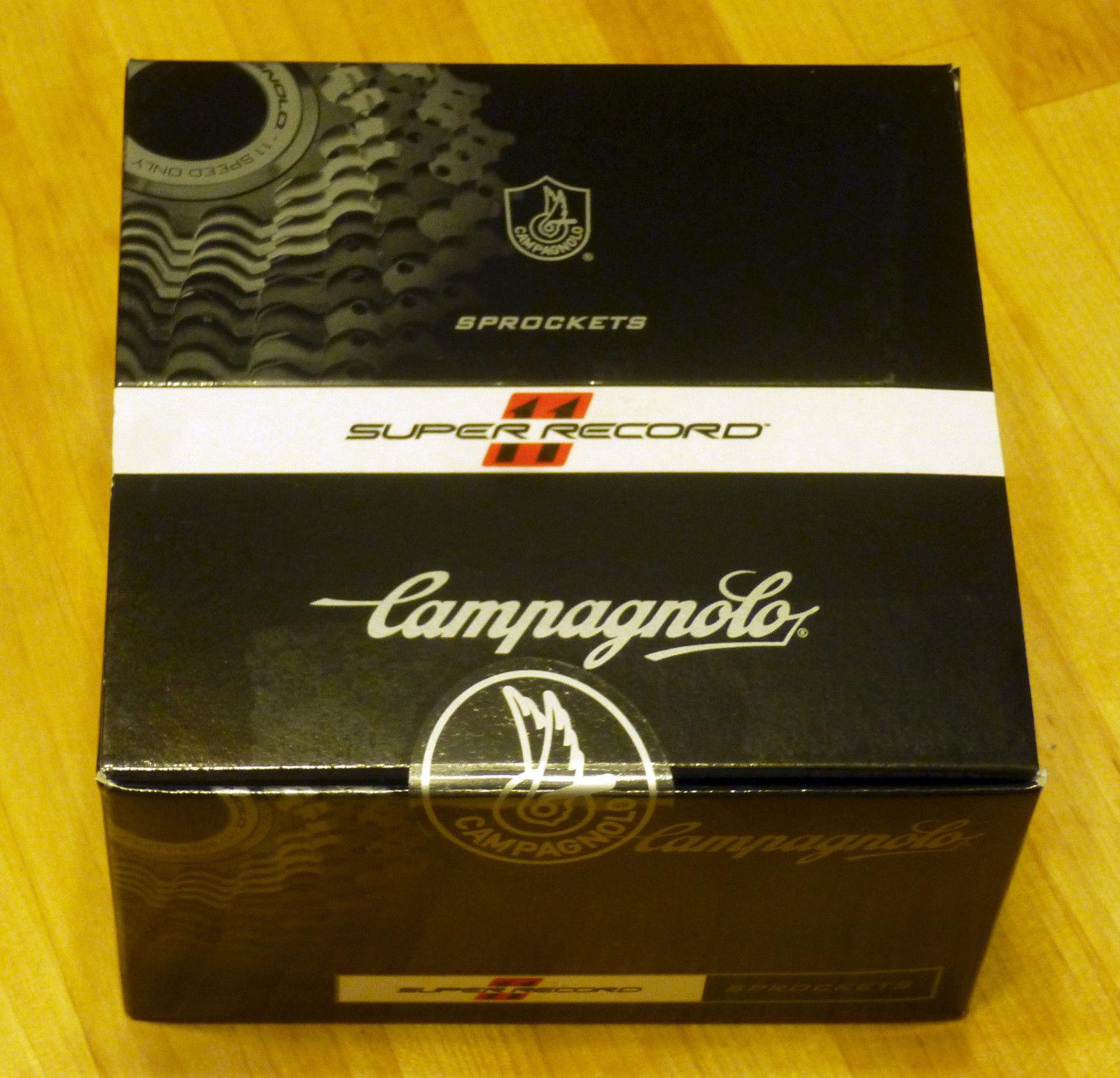 Nuevo súper RECORD DE CAMPAGNOLO Cassette 11 velocidad Ti Titanio 11-27 Con Lockring