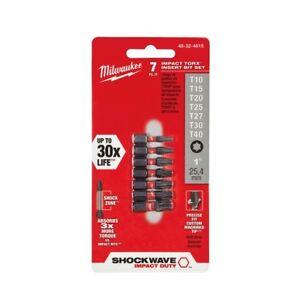 Milwaukee-48-32-4615-7-Piece-TORX-Shockwave-1-034-Insert-Bit-Set