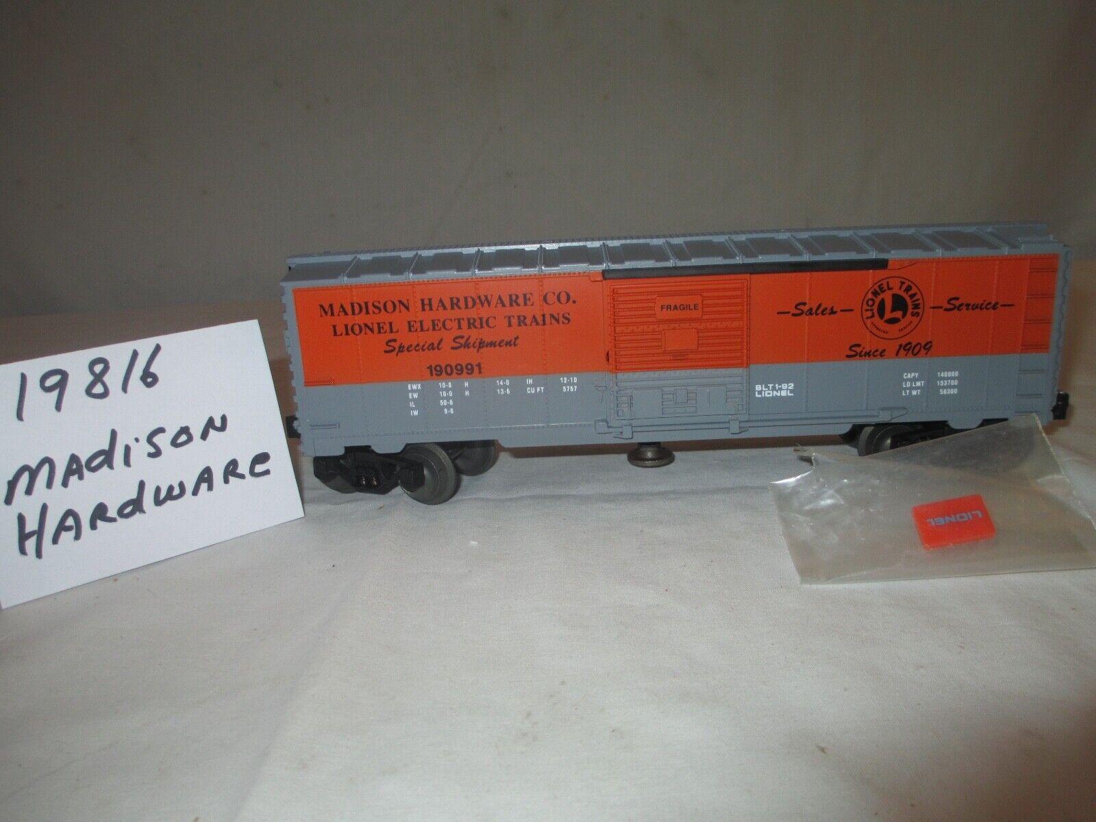 Lionel Madison hardware operativo coche de caja arancia grigio O Calibre 3 rl