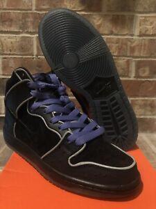 New DS 9 Nike SB Dunk High Purple Black