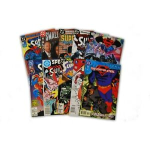 10-Comic-Book-bundle-lot-with-10-Superman-Random-Comic-Collection