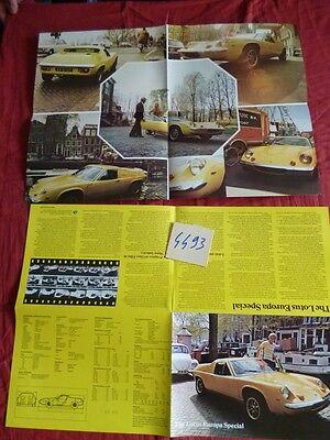N°4493 / Lotus : Dépliant Coupé Europa Spécial October 1973