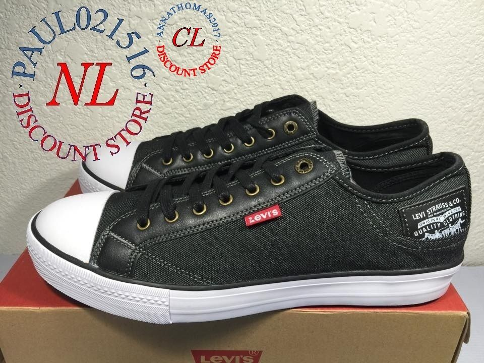 Levi's Shoes Jeans Stan Buck C Men's Canvas Sneakers Shoes Levi's Black Denim- VARIETY @@@@@@ 0d9de6
