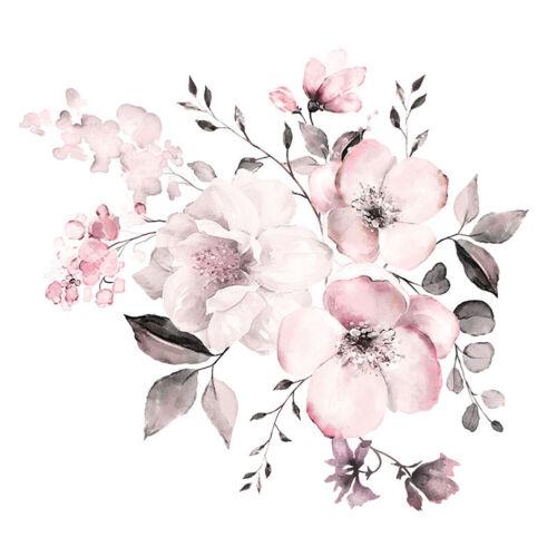 Grandes Peonía Rosa Flor Arte Pared Adhesivo Calcomanía de bricolaje de fondo de sala de casa