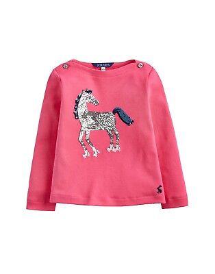 silber Gr 140   NEU JOULES Tom Joule Shirt Pferd Pallietten rosa