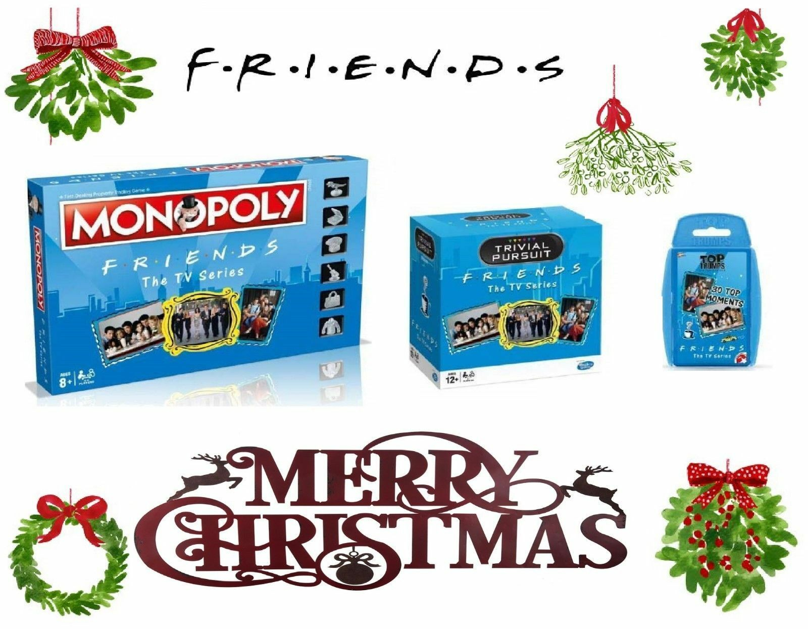 Gli Amici Regalo-Trivial  Pursuit Monopoly Top Trumps - 2018 2019 Regalo di Natale  design unico