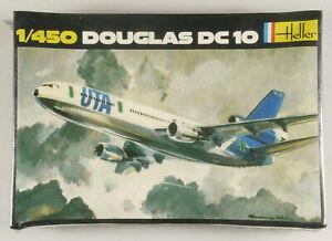 PRL-DOUGLAS-DC-10-AEREO-MONTAGGIO-MODELLINO-MODEL-1-450-PLANE-AVION-HELLER