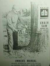 David Bradley db Chain Saw Owner, Parts & Service Manual (2 books) 70p 917.60003