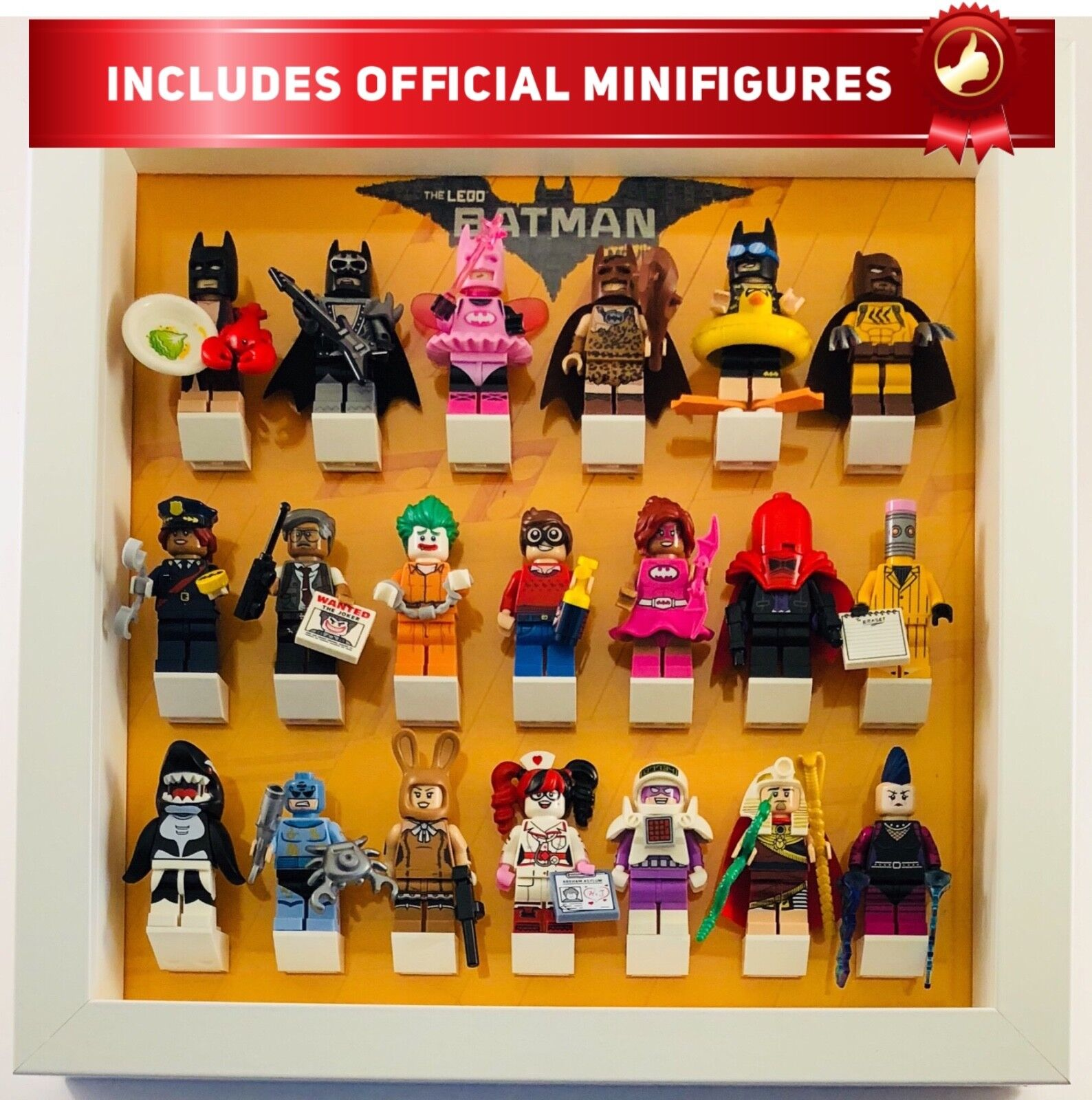 Lego minifigure Display Frame Frame Frame for BatFemme Movie Series 1 INC official minifigs 1ad50b