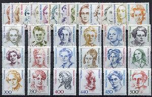 Bund-alle-31-Frauen-der-DM-Zeit-postfrisch-komplett-BRD-1955-1956-1397-1614-2014