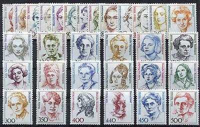 Bund Alle 31 Frauen Der Dm Zeit Postfrisch Komplett Brd 1955,1956,1397,1614,2014