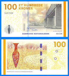 Denmark 100 Kroner 2009 UNC Korun Couronnes Bridge Free Ship Worldwide Skrill OK