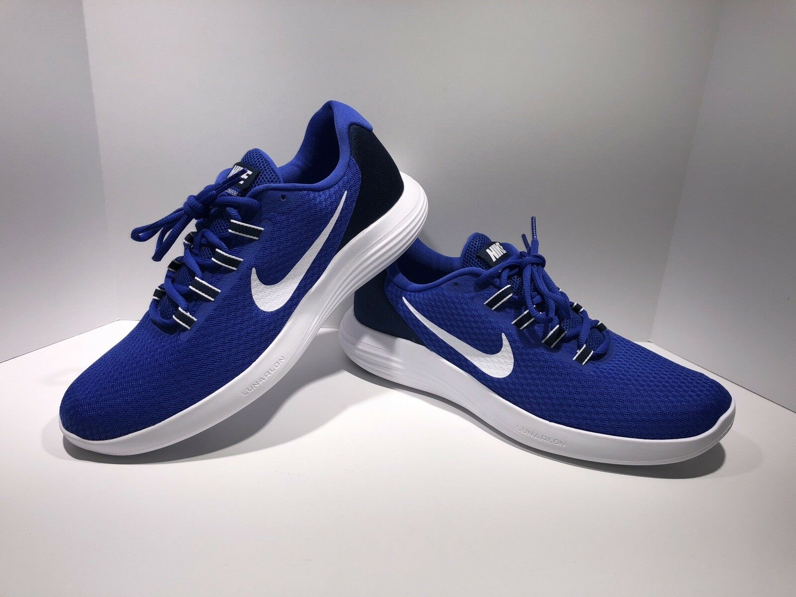 NIKE MEN'S SIZE 12 LUNARCONVERGE RUNNING SHOES SNEAKERS blueE 852462 400 NEW