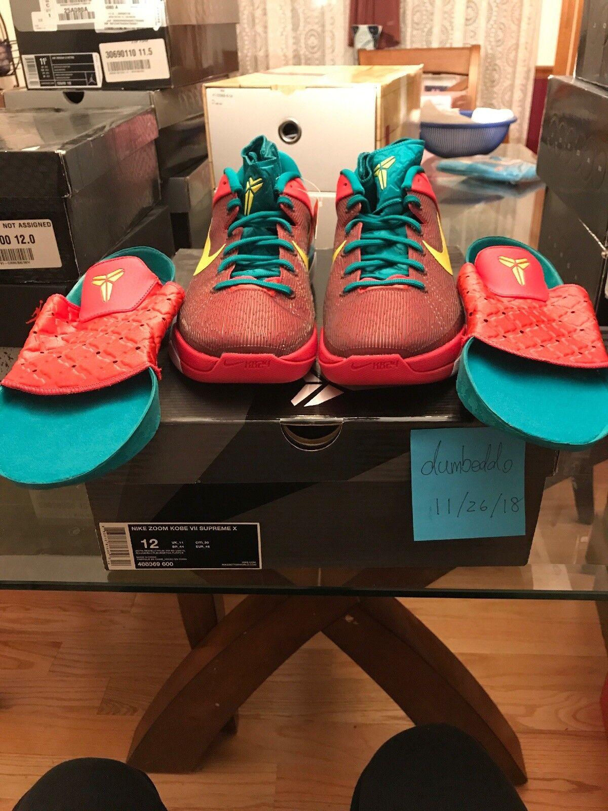 Nike Zoom KOBE VII 7 SUPREME X YOTD YEAR OF OF OF THE DRAGON RED ELECTROLIME TEAL Sz12 a981af