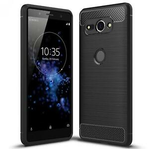 Coque-carbone-pour-Sony-Xperia-xz2-Compact-Etui-de-protection-portable-case-hybride-TPU-Cover