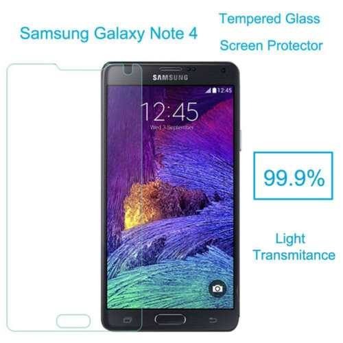 TEMPERED   GLASS   SCREEN PROTECTOR FOR SAMSUNG NOTE4 HARD CLEAR 2.5D GOOD